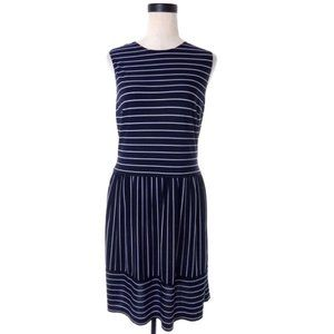 Studio Black and White Striped Dress Size 12 Large